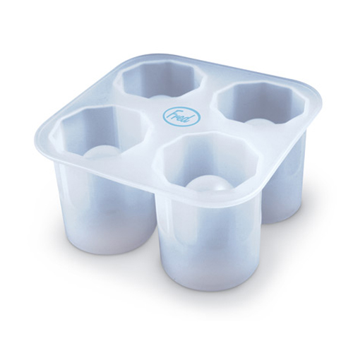 Fred & Friends Cool Shooters Silicone Ice Cube Tray - The Fill And Chill Shot Glass Mold