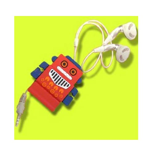 Headset Cord Wrapper - Red Robot