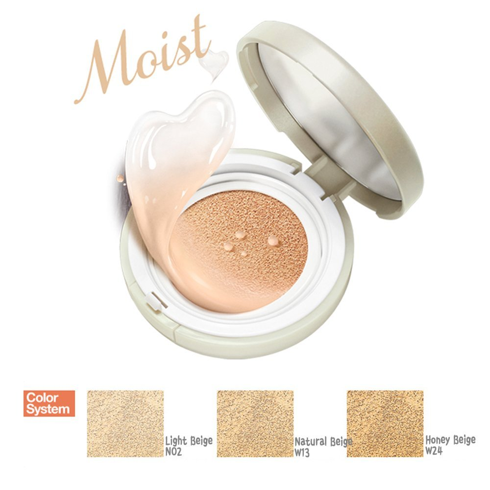 [ETUDE HOUSE] Precious Mineral Moist Any Cushion - SPF 50+/PA+++, 15g (#2 Light Beige)