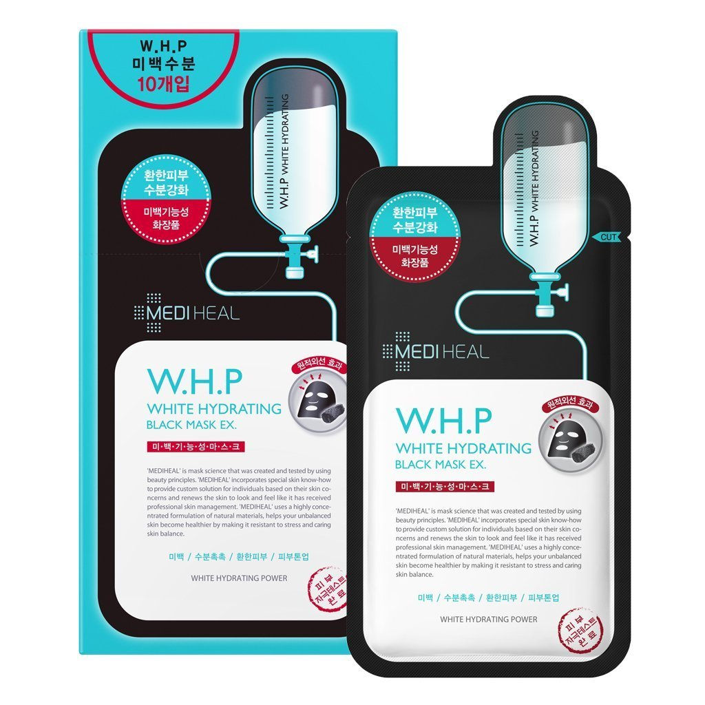 [MEDIHEAL] W.H.P White Hydrating Charcoal Mineral Mask x 10 Pack