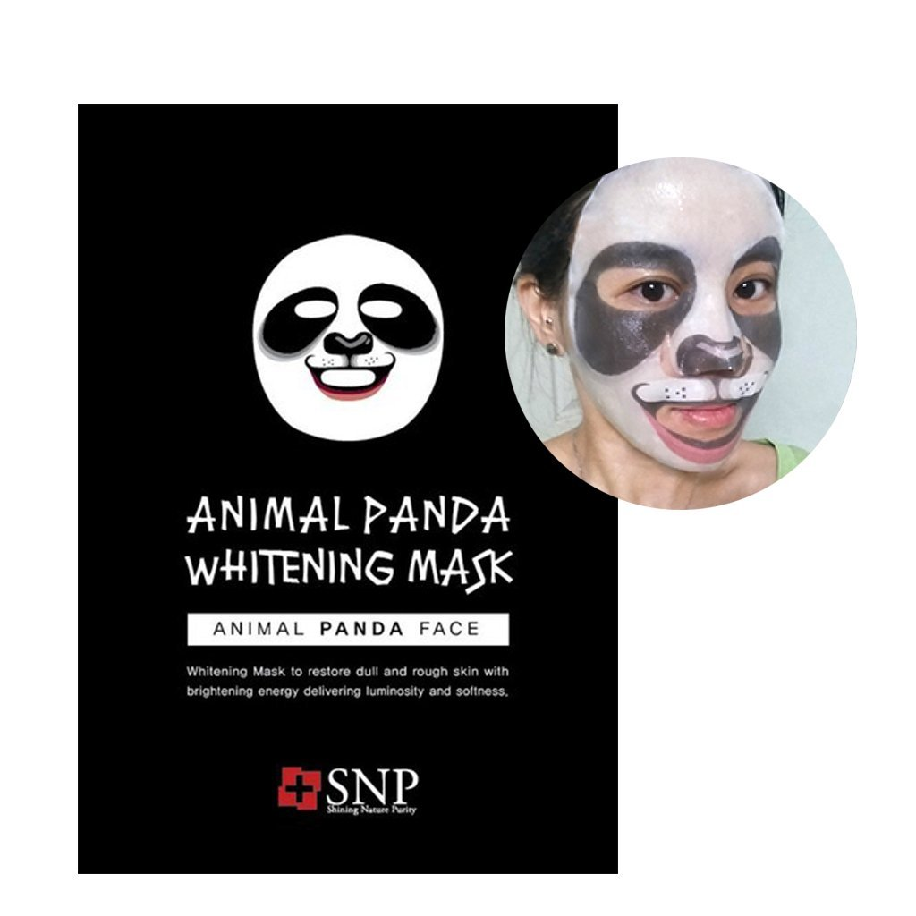 [SNP] Animal Panda Whitening Mask 0.85Oz/25Ml x 10 pack - 1 Box