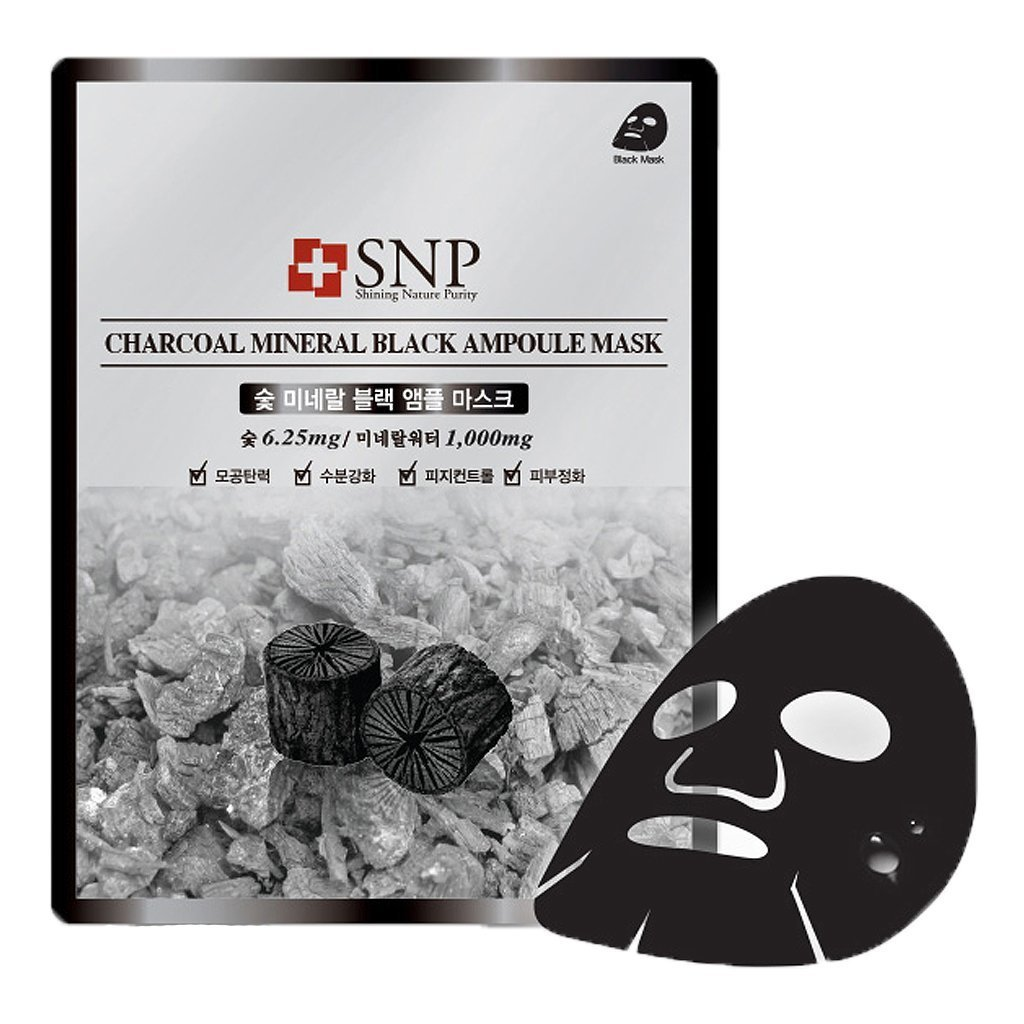 [SNP] Charcoal Mineral Black Ampolue Mask X 10 Pack