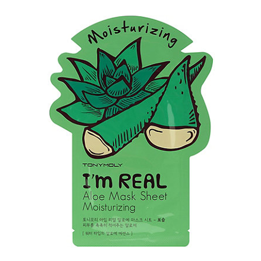 [TONYMOLY] I'm Real Skin Care Facial Mask Sheet Package (Aloe - Moisturizing) X 10 Pack