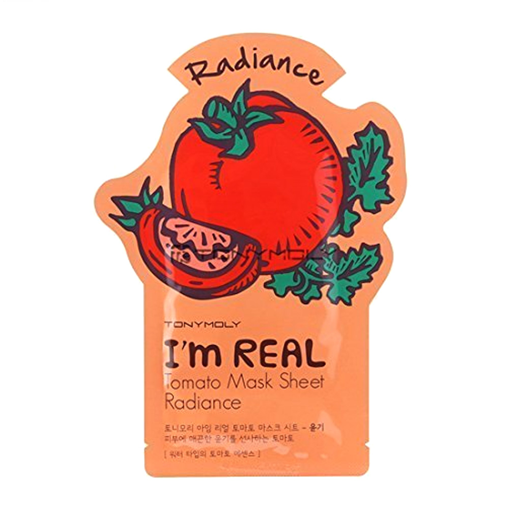 [TONYMOLY] I'm Real Skin Care Facial Mask Sheet Package (Tomato - Radiance) X 10 Pack