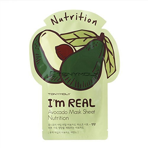 [TONYMOLY] I'm Real Skin Care Facial Mask Sheet Package (Avocado - Nutrition) X 10 Pack
