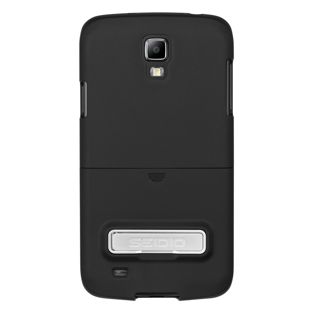 Seidio Black Active Rubberized Hard Cover w/ Kickstand for Samsung Galaxy S4 Active - CSR3SSG4AK-BK