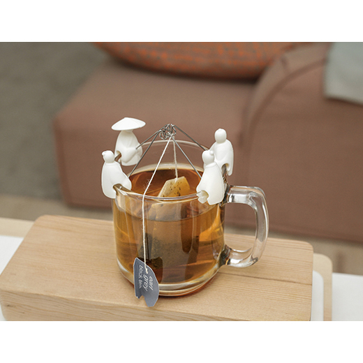Kikkerland Jiang Taigong Tea Bag Holder [Set of 4]