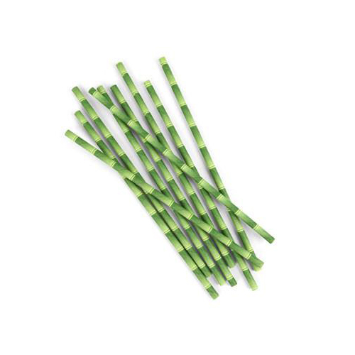 [Kikkerland] Biodegradable Paper Straws, Bamboo Design - Eco-Friendly & Compostable!  [Box of 144]