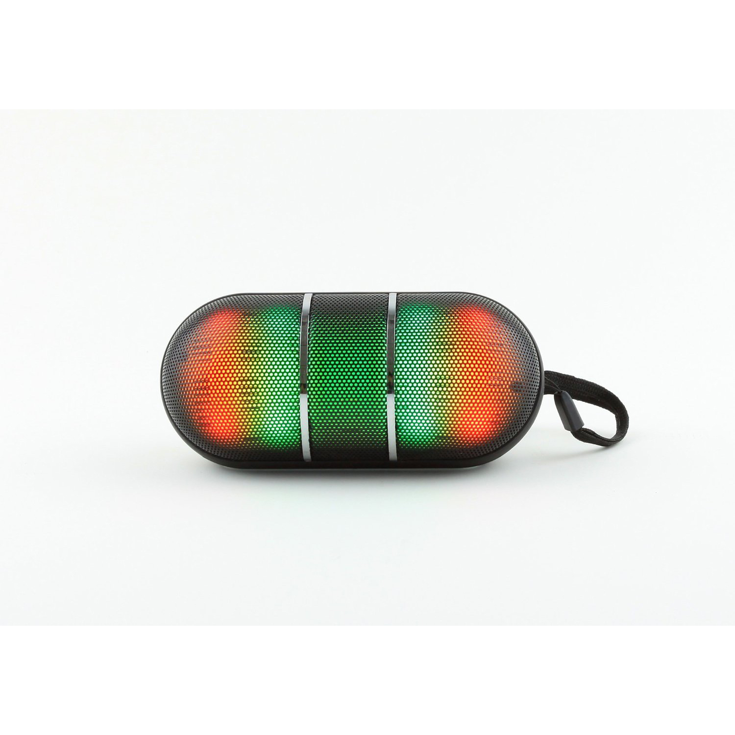 CycloneSound Lightning Bolt Jr. Series Portable LED Bluetooth Speaker [Black]