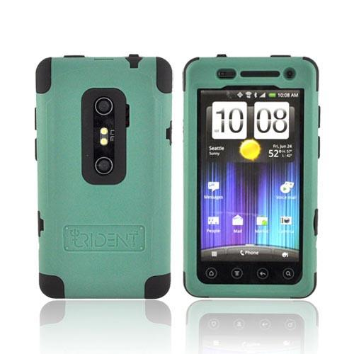Original Trident Cyclops II HTC EVO 3D Anti-Skid Hard Cover Over Silicone w/ Screen Protector, CY2-EVO-3D-BG - Green/ Black