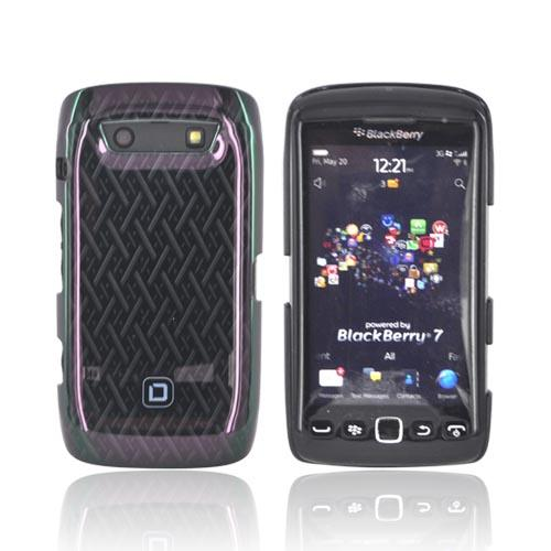 Original Dicota Blackberry Torch 9860, 9850 Hard Case, D30329 - Black Woven Design