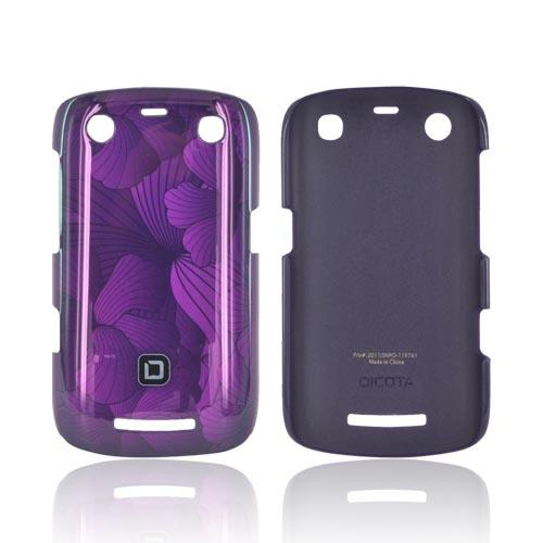 Original Dicota Blackberry Curve 9360 Hard Case, D30385 - Purple Hawaiian Flowers