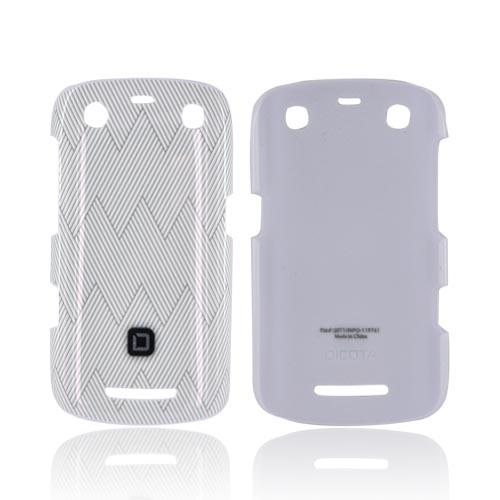 Original Dicota Blackberry Curve 9360 Hard Case, D30386 - Gray Zig Zag Design on White