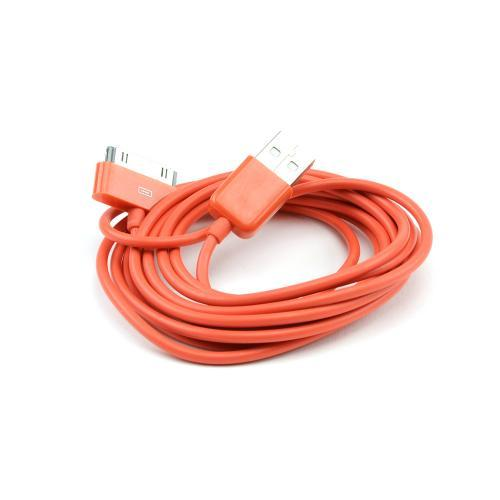 Outrageous Orange 6 ft. Apple iPhone/ iPod USB Charge & Sync Data Cable