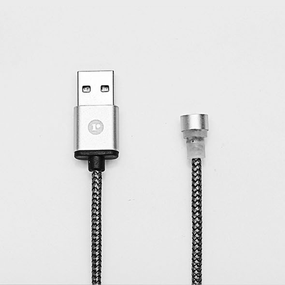 Lightning to USB Magnetic Data Cable [Silver]