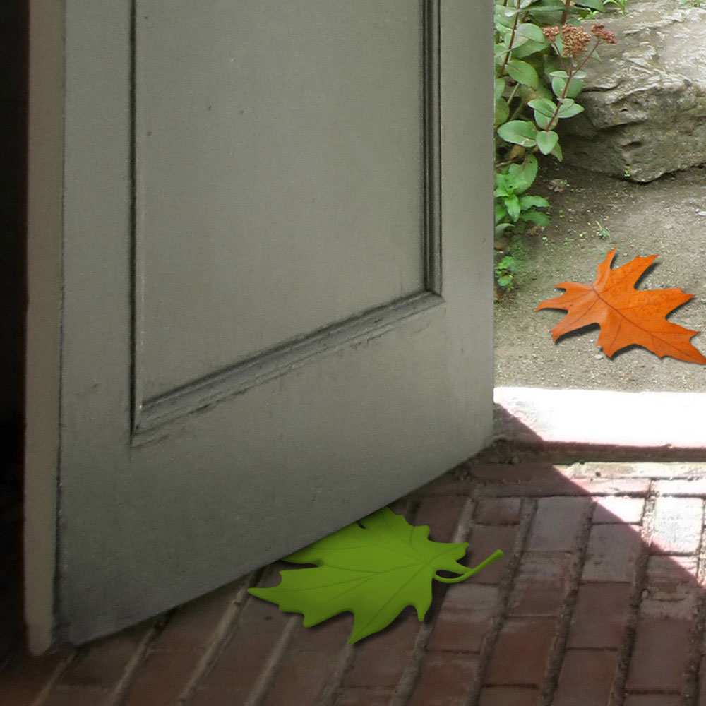 Green Maple Leaf Door Stop - Great For Home Decor!