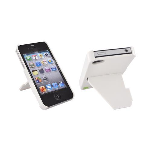 Original TRTL BOT Apple AT&T/ Verizon iPhone 4, iPhone 4S TRTL STAND Hard Case, DR2012WHT - White