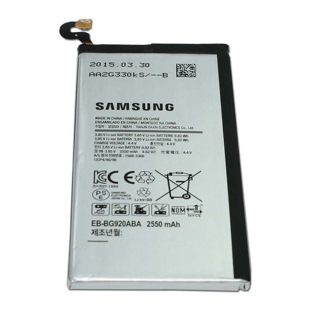 Original Samsung Galaxy S6 Internal Battery, [EB-BG920ABA] Internal Lithium-Ion Replacement Battery [2550 mah] - In Non-Retail Packaging