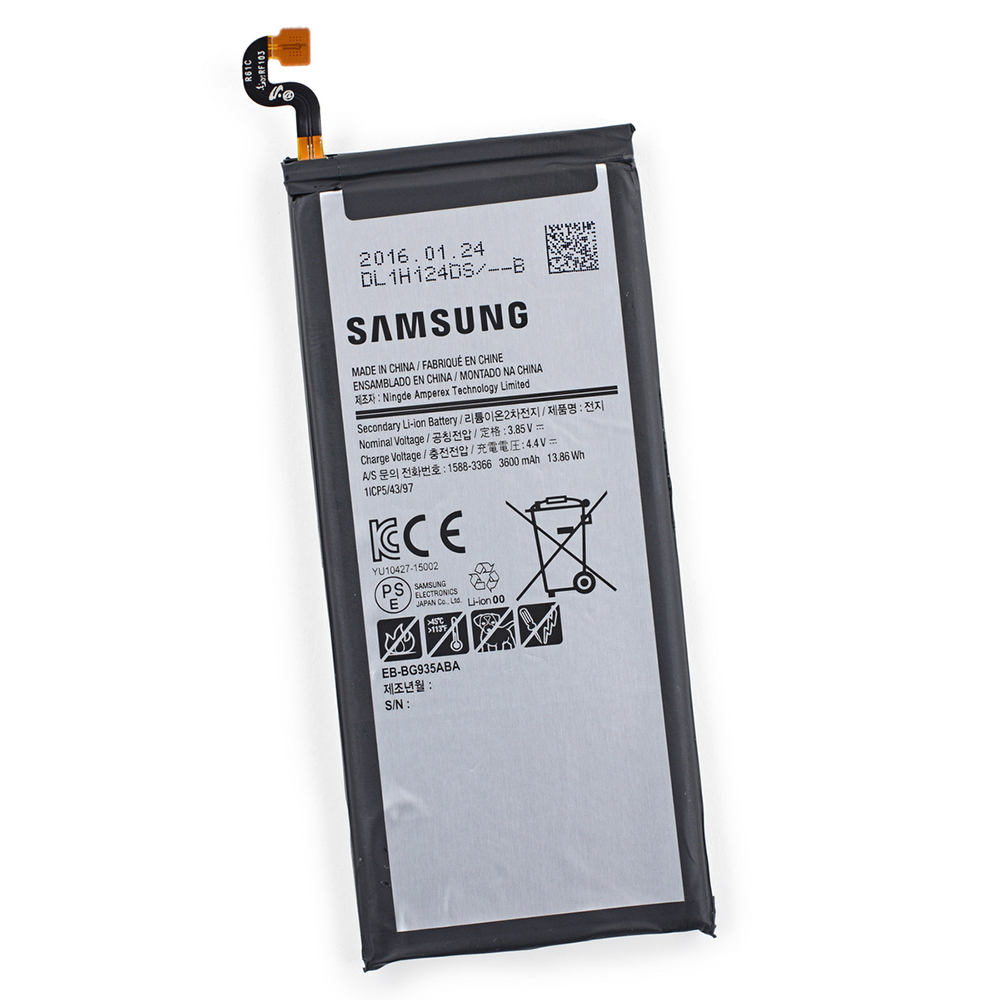 Original Samsung Galaxy S7 EDGE Internal Battery, [EB-BG935ABA] Internal Lithium-Ion Replacement Battery [3900 mah] - In Non-Retail Packaging