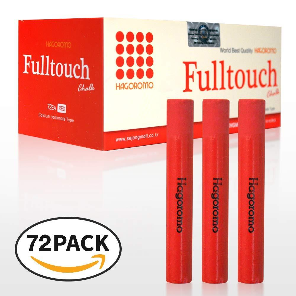 HAGOROMO Fulltouch Color Chalk 1 Box [72 Pcs/Red]