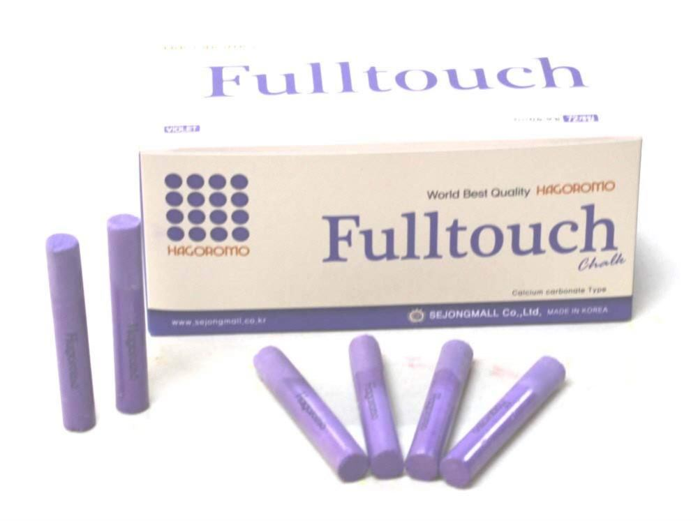 HAGOROMO Fulltouch Color Chalk 1 Box [72 Pcs/Violet]