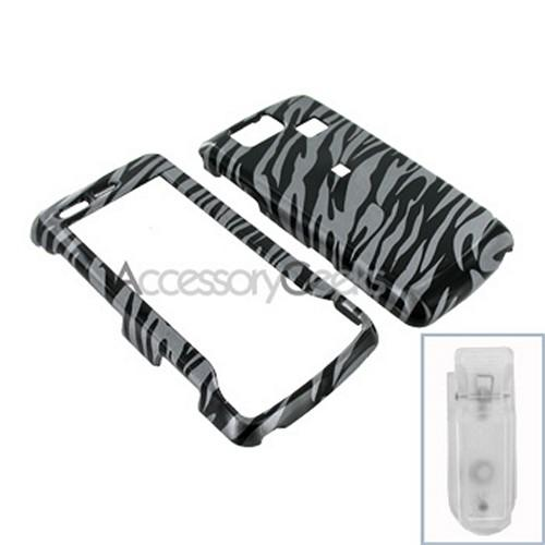 LG Versa VX9600 Hard Case - Zebra on Grey