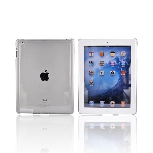 Apple iPad 2 Hard Back Cover Case - Transparent Smoke