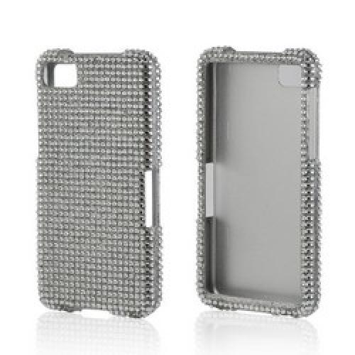 Silver Gems Bling Hard Case for Blackberry Z10