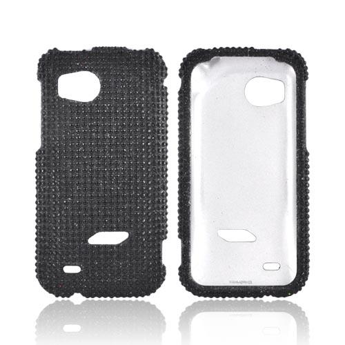 HTC Rezound Bling Hard Case - Black Gems