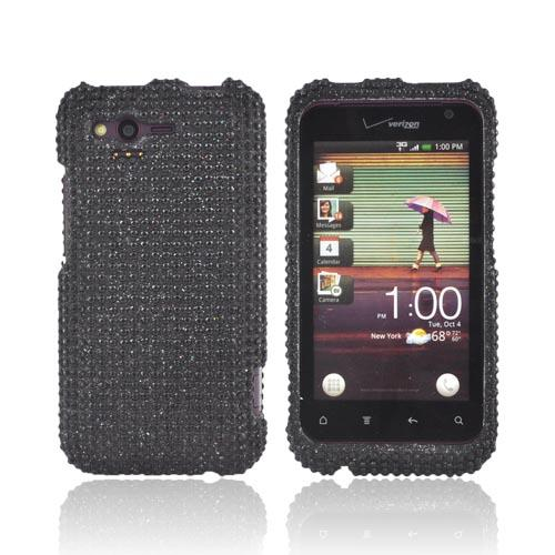 HTC Rhyme Bling Hard Case - Black Gems
