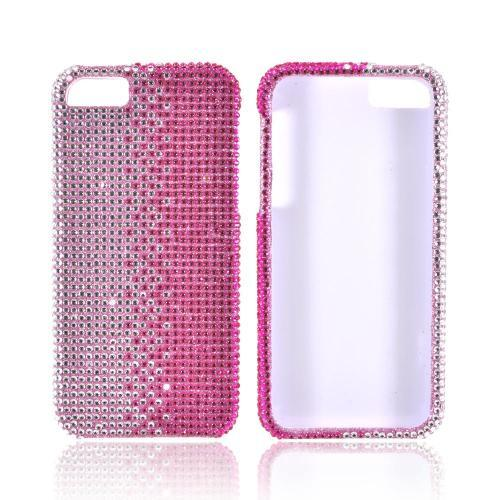 Made for Apple iPhone SE / 5 / 5S Bling Case,  [Hot Pink/ Silver Gems]  Shiny Sparkling Bling Gems Protective Hard Case Cover by Redshield
