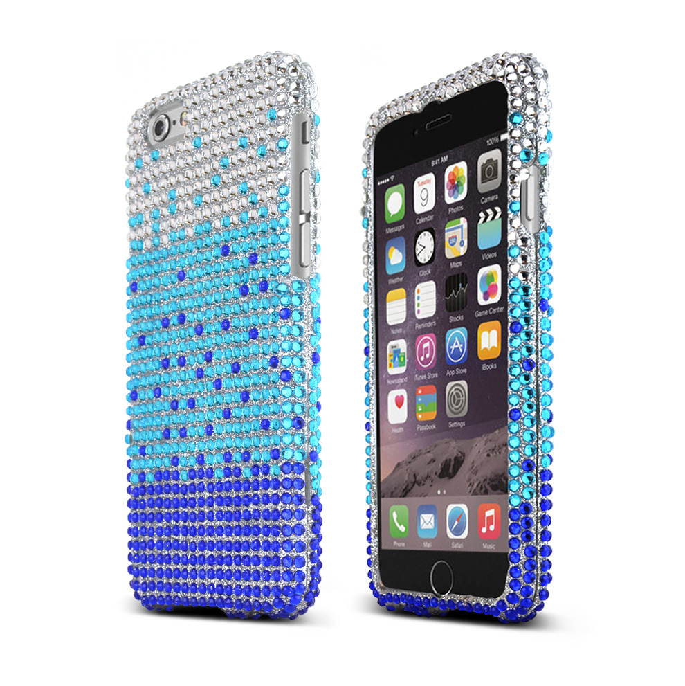 Made for Apple iPhone 6/ 6S Case,  [Turquoise/ Blue Waterfall] Jeweled Fashion Slim Protective Crystal Glossy Snap-on Hard Polycarbonate Plastic Case Cover by Redshield