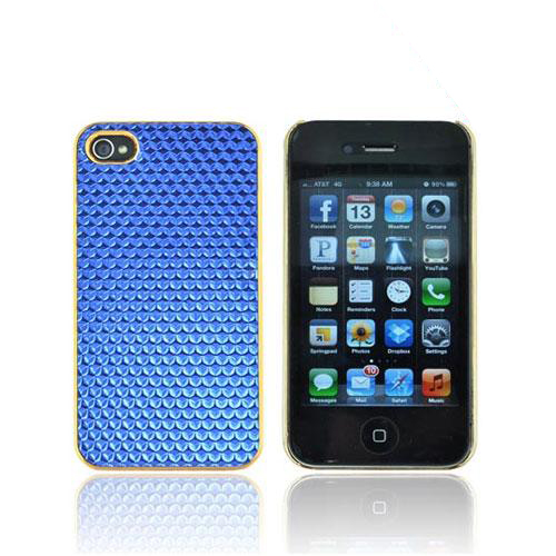 AT&T/ Verizon Apple iPhone 4, iPhone 4S Hard Case - Blue Hexagon