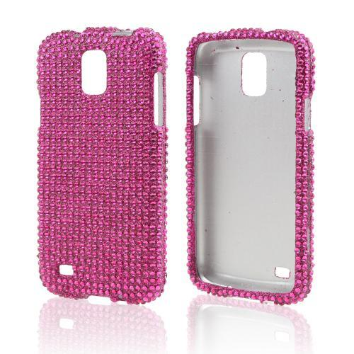 Hot Pink Gems Bling Hard Case for Samsung Galaxy S4 Active