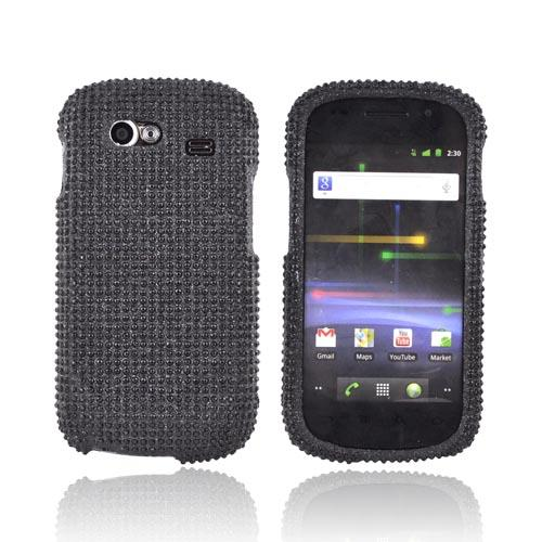 Google Nexus S Bling Hard Case w/ Crowbar - Black Gems