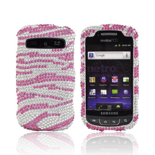 Samsung Rookie R720 Bling Hard Case - Pink Zebra
