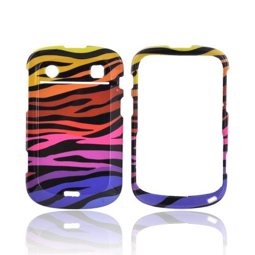 Blackberry Bold 9900,9930 Hard Case - Rainbow Zebra on Black