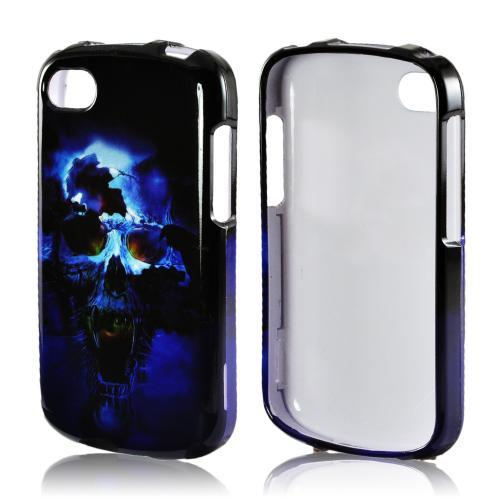 Blue Skull Hard Case for Blackberry Q10