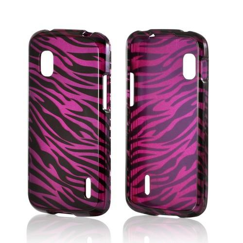Purple/ Black Zebra Hard Case for Google Nexus 4