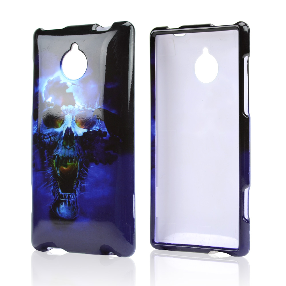 Blue Skull Hard Case for HTC 8XT