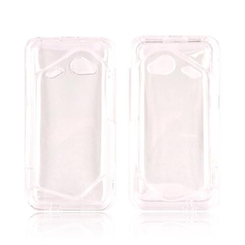 HTC Droid Incredible 4G LTE Hard Case - Transparent Clear