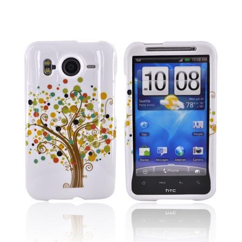 HTC Inpsire 4G Hard Case - Brown Tree on White