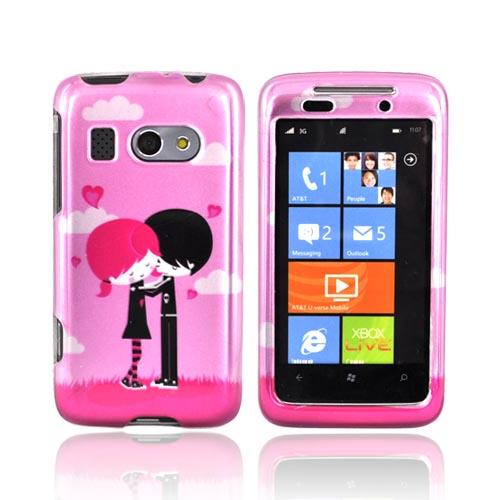 HTC Surround T8788 Hard Case - Pink Emo Love