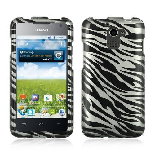 Silver/ Black Zebra Hard Case for Huawei Premia 4G M931