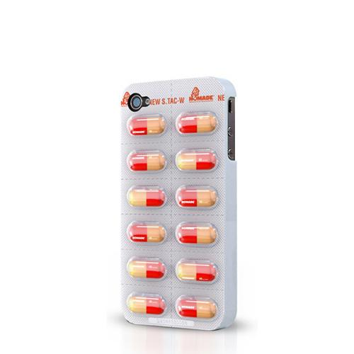 Original Flashbacks AT&T/ Verizon Apple iPhone 4, iPhone 4S Hard Case - Red/ Yellow Pills