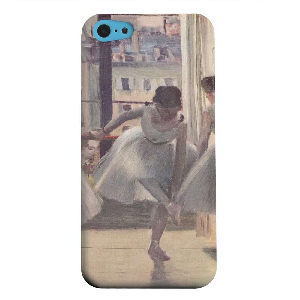 Geeks Designer Line (GDL) Apple iPhone 5C Matte Hard Back Cover - Three Dancers in an Exercise Hall by Edgar Degas
