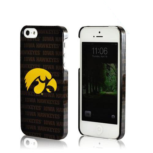 Apple iPhone SE / 5 / 5S Hard Case, NCAA LIcensed [Iowa Hawkeyes]  Slim & Protective Crystal Glossy Snap-on Hard Polycarbonate Plastic Case Cover