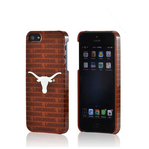 Made for Apple iPhone SE / 5 / 5S Hard Case, NCAA LIcensed [Texas Longhorns]  Slim Protective Crystal Glossy Snap-on Hard Polycarbonate Plastic Case Cover by Ncaa licensed