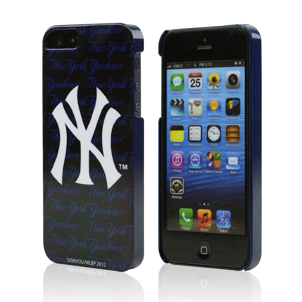 Apple iPhone SE / 5 / 5S Hard Case, MLB Licensed [New York Yankees]  Slim & Protective Crystal Glossy Snap-on Hard Polycarbonate Plastic Case Cover