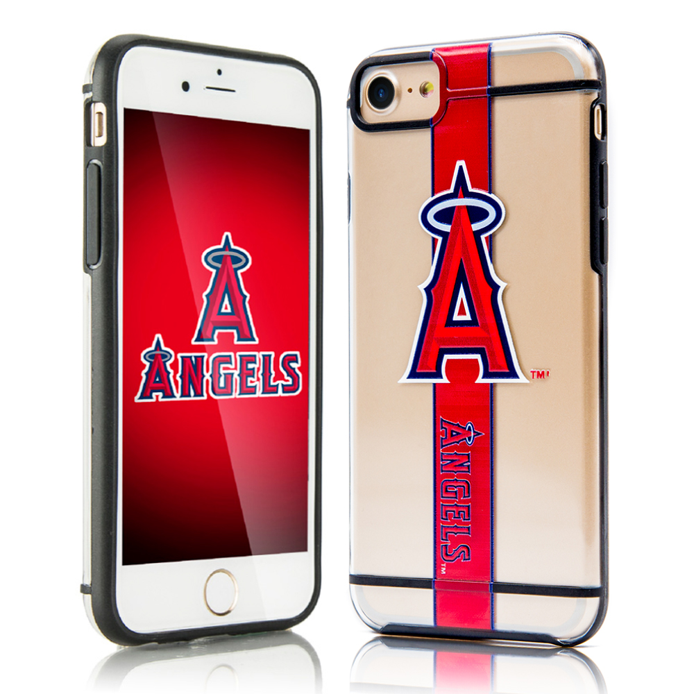Apple iPhone 8 / 7 / 6S / 6 Sports Case, [Los Angeles Angels] Hydroclear Ultra-Slim 3D UV Printed Textured Hard Back Case w/ TPU Border